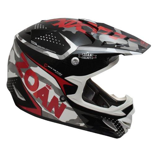 Zoan MX-1 Sniper Black Red MX Offroad Motocross Motorcycle Riding Helmet 3X-Large