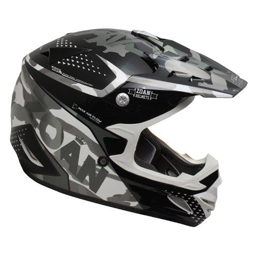 Zoan MX-1 Sniper Black Silver Offroad Motocross Motorcycle Riding Helmet X-Large
