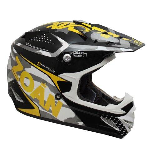 Zoan MX-1 Sniper Black Yellow Offroad Motocross Motorcycle Riding Helmet X-Small