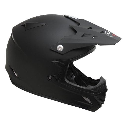 Zoan MX-2 Flat Matte Black DOT Offroad Motorcycle Riding Helmet Youth Medium