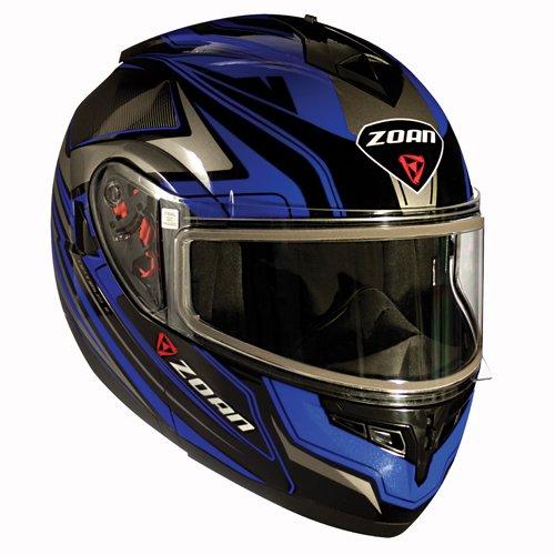 Zoan Optimus Eclipse Blue Black Modular Flip Up Motorcycle Riding Helmet Medium