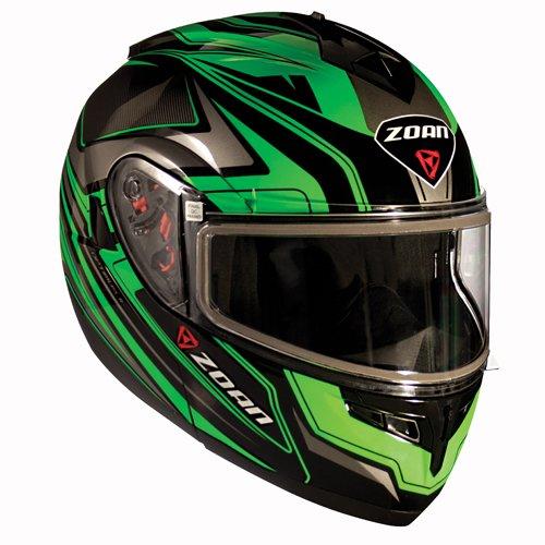 Zoan Optimus Eclipse Green Modular Flip Up Motorcycle Riding Helmet 3X-Large