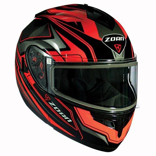 Zoan Optimus Eclipse Orange Modular Flip Up Motorcycle Riding Helmet 2X-Large