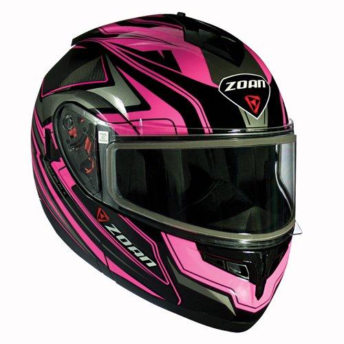 Zoan Optimus Eclipse Pink Black Modular Flip Up Motorcycle Riding Helmet Large