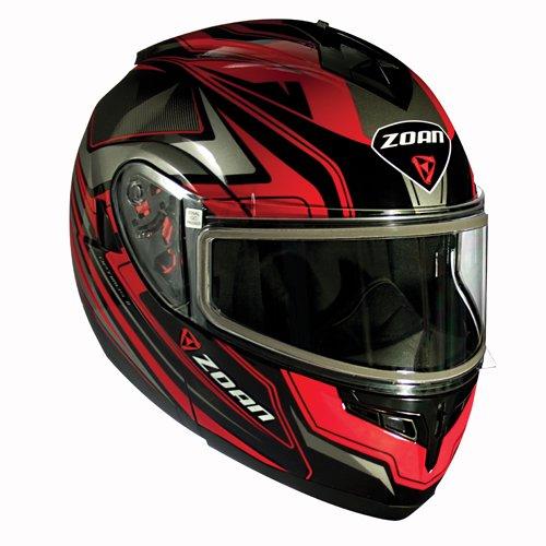 Zoan Optimus Eclipse Red Modular Flip Up Street Motorcycle Riding Helmet 2X-Large