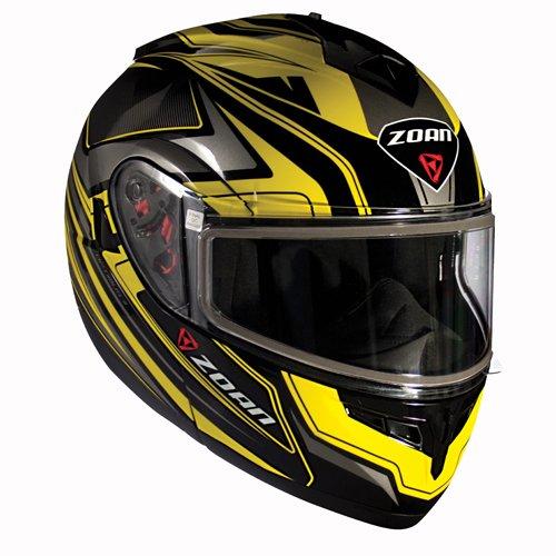 Zoan Optimus Eclipse Yellow Modular Flip Up Motorcycle Riding Helmet 2X-Large