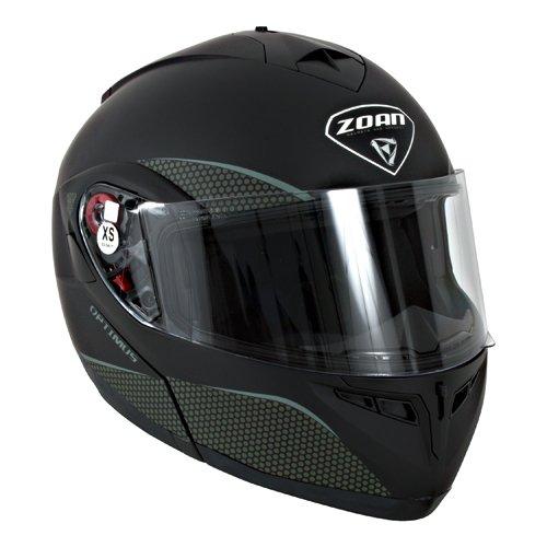 Zoan Optimus Flat Black Modular Flip Up Street Motorcycle Riding Helmet X-Large