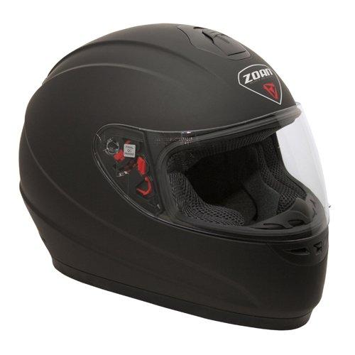 Zoan Thunder Flat Matte Black Full Face Street Motorcycle Riding Helmet 2X-Large