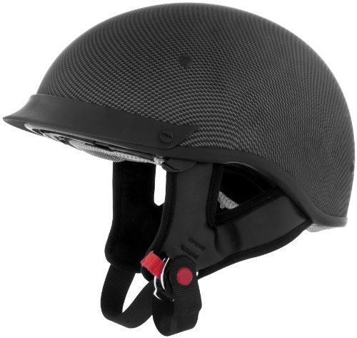 Cyber Helmets U-72 Solid Helmet  Helmet Type Half Helmets Helmet Category Street Distinct Name Carbon Primary Color Black Size Md Gender MensUnisex 640852