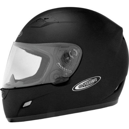 Cyber Helmets US-39 Solid Helmet  Primary Color Black Helmet Type Full-face Helmets Helmet Category Street Distinct Name Flat Black Size Lg Gender MensUnisex 640723
