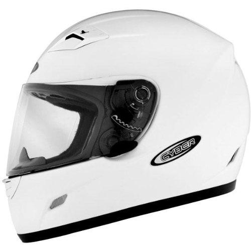 Cyber Helmets US-39 Solid Helmet  Size XL Primary Color White Distinct Name White Helmet Type Full-face Helmets Helmet Category Street Gender MensUnisex 640734