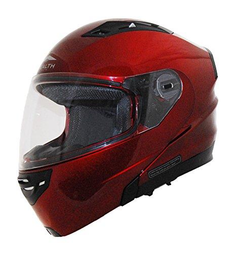 Stealth Vertice Full Face Modular Helmet Candy Red Medium