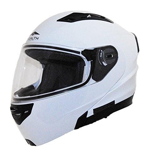 Stealth Vertice Full Face Modular Helmet Pearl White Small