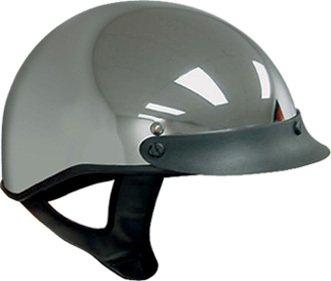DOT Chrome Motorcycle Half Helmet with Visor Size S SM Small