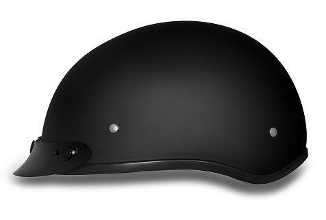 DOT Dull Black Motorcycle Half Helmet with Visor Size 4XL 4X-Large