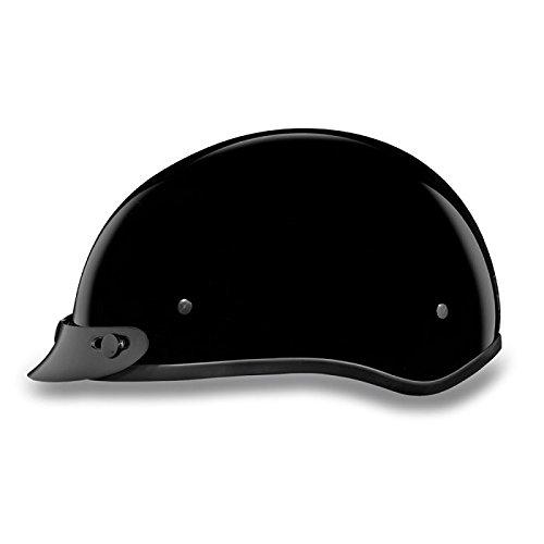 DOT Gloss Black Motorcycle Half Helmet with Visor Size 4XL 4X-Large