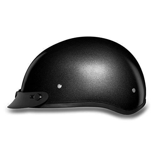 DOT Gun Metal Gray Motorcycle Half Helmet with Visor Size 4XL 4X-Large