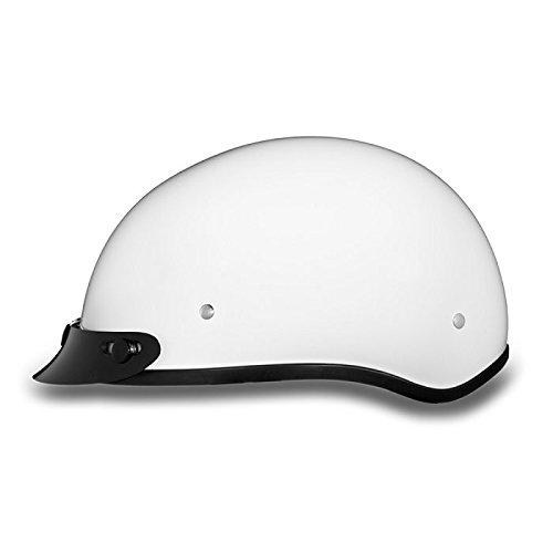 DOT White Motorcycle Half Helmet with Visor Size 4XL 4X-Large