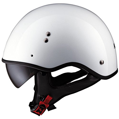 LS2 Helmets HH566 Half Helmet with Visor Solid Pearl White XX-Large