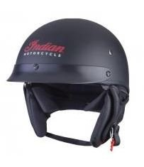 Indian Motorcycle Matte Black Half Helmet 2- Large