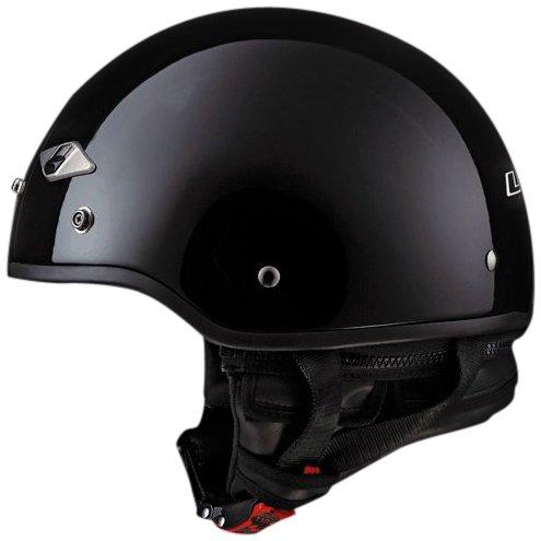 LS2 Helmets HH568 Half Helmet Solid Gloss Black X-Large