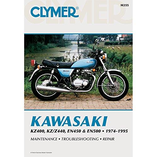 1974-1995 CLYMER KAWASAKI KZ400 KZZ440 EN450 EN500 SERVICE MANUAL M355