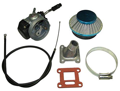 Racing Carburetor Air Filter Throttle Cable kit for 47cc 49cc Mini Pocket Bike MTA1 MTA2 ATV Cag Mx3 GP-RSR