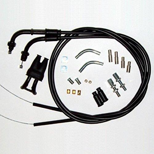 Venhill U01-4-150-BK Universal Motorcycle Dual Throttle Cable Kit