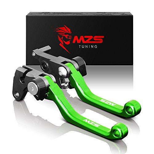 MZS CNC Pivot Brake Clutch Levers for Kawasaki KX250F 2013-2018KX450F 2013-2018 Green