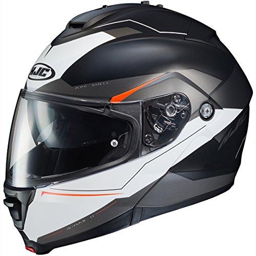 HJC IS-Max II Magma MC5SF Matte BlackWhite Modular Helmet - Small