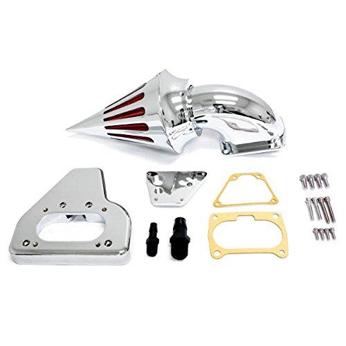 Krator 2002-2009 Honda VTX 1800 Cruiser High Quality Chrome Billet Aluminum Cone Spike Air Cleaner Kit Intake Filter Motorcycle