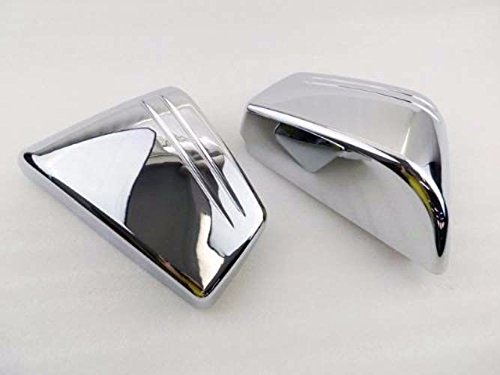 Motorcycle Chrome Plastic Left Right Side Covers Battery Fairing Frame Cover For 2002-2008 Honda VTX 1800 C VTX1800C Custom 02-08 2003 2004 2005 2006 2007