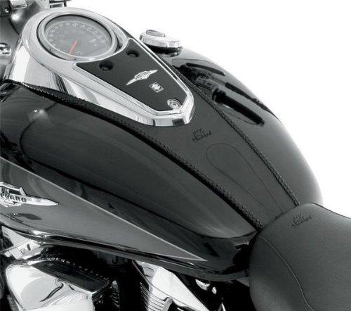 Mustang Plain Black Tank Bib for 2003-2009 Honda VTX1300C - One Size