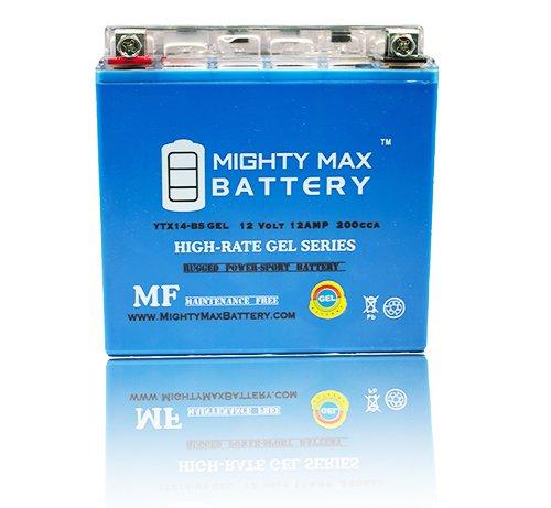 YTX14-BS GEL 12V 12AH Battery for HONDA VTX1300CRRetro 1300CC 03-09 - Mighty Max Battery brand product