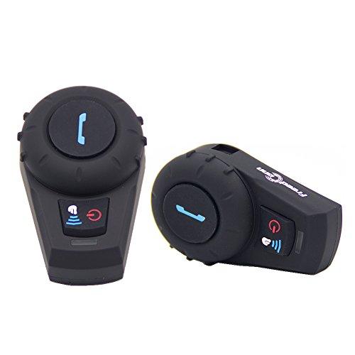 FreedConn Bluetooth Intercom Motorcycle Helmet Headset BT Interphone Full Duplex 500m pack of 2