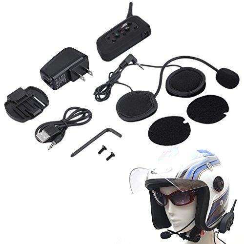 Kingsea V6 1200m Bluetooth Intercom for Motorcycle Helmet Headset Interphone US Plug