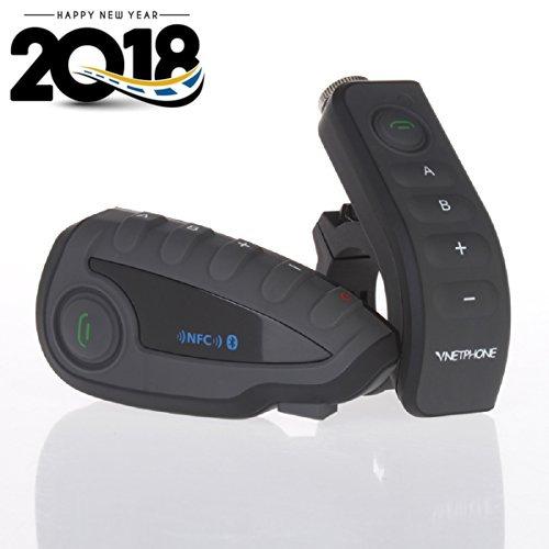Vnetphone V8 BT 30 Bluetooth Intercom Motorcycle Helmet Waterproof Interphone Headset 5 Riders up to 1200M Wireless communication Walkie Talkie Connecting to MP3GPS FM