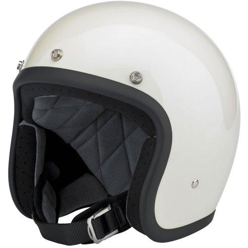 Biltwell Inc Bonanza Gloss Vintage White Open Face Helmet X-Small