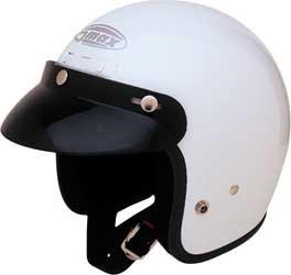 GMax GM2 White Open Face Helmet - Medium