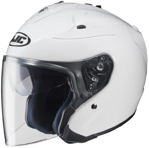 HJC FG-JET Open-Face Motorcycle Helmet White Large