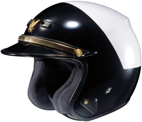 SHOEI RJ Platinum Le High Rise BlackWhite Open-Face Helmet - Medium 04-121