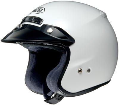 Shoei RJ Platinum R White Open Face Helmet - Medium