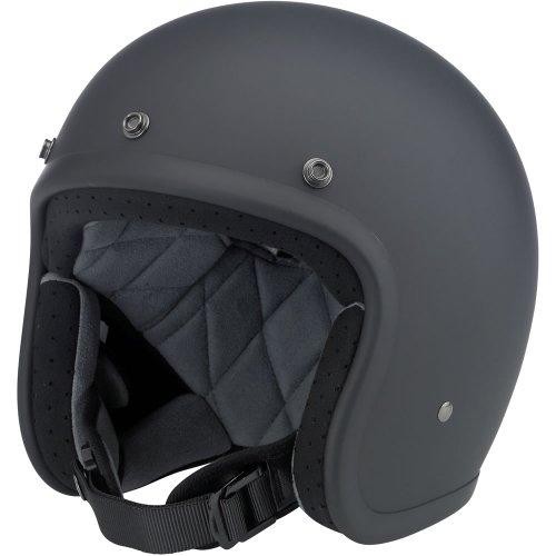 Biltwell Inc Bonanza Flat Black Open Face Helmet Large