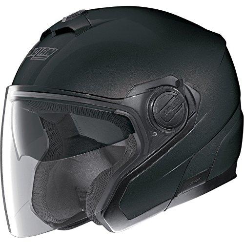Nolan N40 MCS 2 Flat Black Open Face Helmet XL