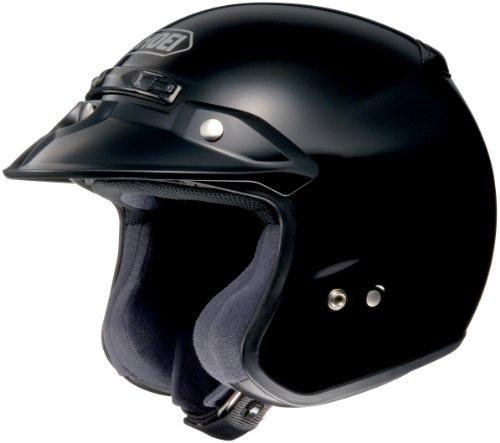 Shoei RJ Platinum R Black Open Face Helmet - Large
