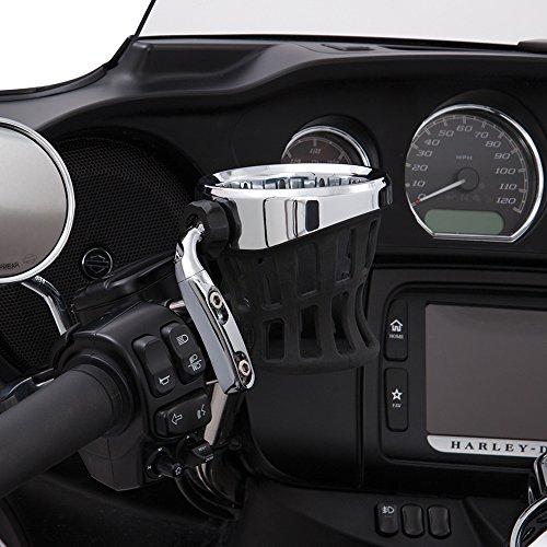 Ciro 50410 Drink Holder Chrome Perch Mount For Harley-Davidson Models