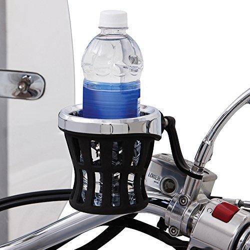 Ciro 50420 Drink Holder Black Mirror Mount For Harley-Davidson Models