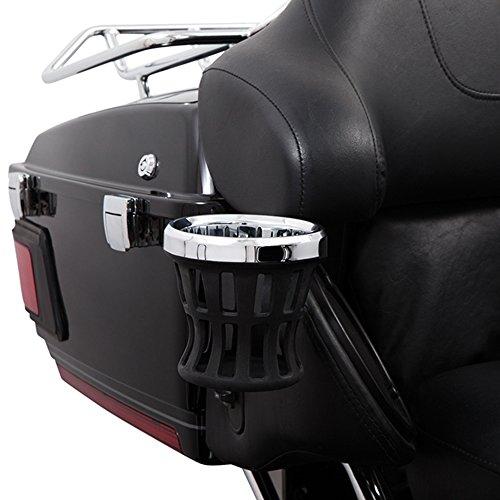Ciro 50421 Drink Holder Chrome Passenger For 1996-2013 Harley-Davidson Ultra Touring Models With Tour-Pak