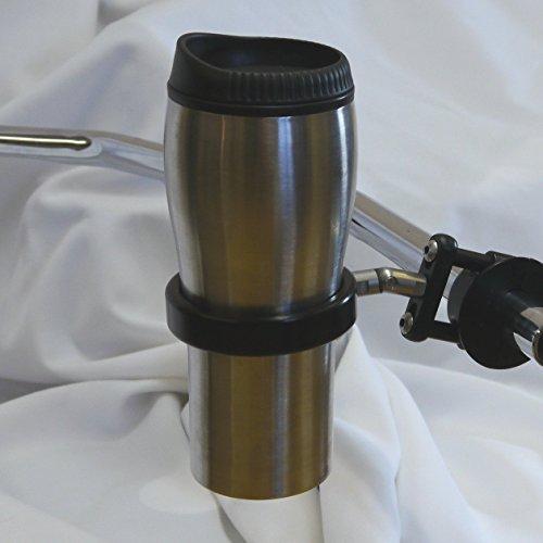Roadrunner PLUS Motorcycle Drink Holder wSwivel Travel Mug BrakeClutch Black Leader Motorcycle Accessories RU-REB