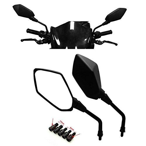 Universal Motorcycle Mirrors KEMIMOTO M8 M10 Threaded Bolt for ATV Kawasaki Suzuki Honda Victory
